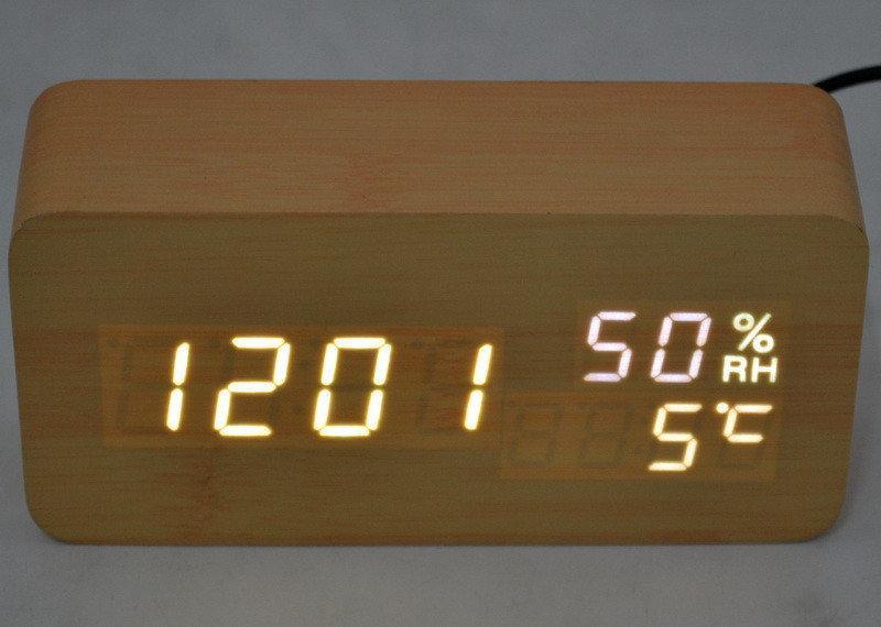 Настольные часы с белой подсветкой  VST-862S-6