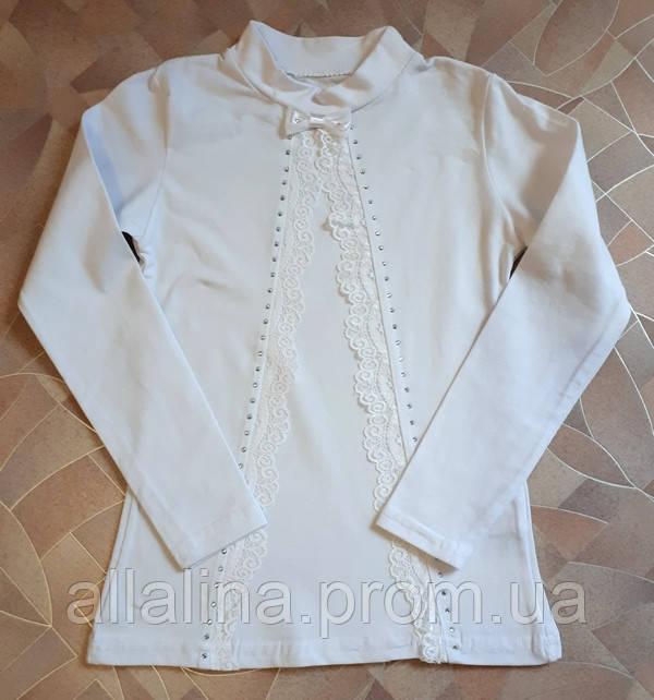 Блузка белая на девочку Школа (6-12 лет)