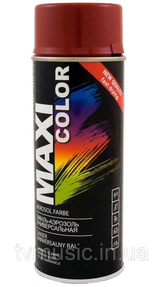 Аэрозольная краска Maxi Color RAL 3011 Коричнево-красный 400 мл