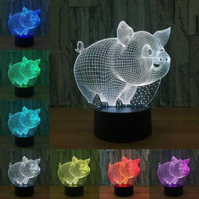 3D Светильник Поросенок