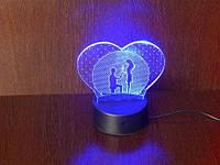 3D Светильник Романтика, фото 1