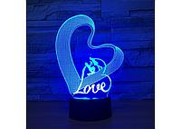 3D Светильник LOVE, фото 1