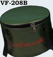 Складное ВедроLionFish.sub на 8л в помощь Рыбакам и Охотникам при перевозки и хранениирыбы ПВХ