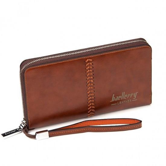 Кошелёк | Гаманець | Черный | Коричневый | Baellerry Leather SW008