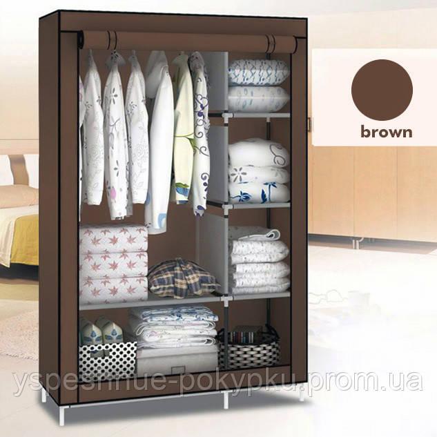 Тканевый шкаф-органайзер для одежды 2 секции.