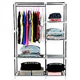 Тканевый шкаф-органайзер для одежды 2 секции., фото 4