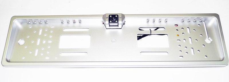 Камера заднего вида рамка A58 silver (серая) | в рамке номерного знака, фото 1