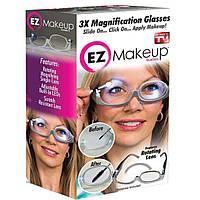 Очки для нанесения макияжа с подсветкой 3X Magnification makeup glasses (Реплика), фото 1