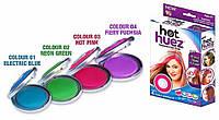 Цветная пудра для волос/ Кольорова пудра для волосся Hot Huez | Мелки для волос Хот Хьюз, фото 1