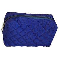 Косметичка клатч с декоративной строчкой синяя