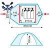 Трехсезонная палатка Stalker 3 (V2) трехместная 370х220х130 см, 4,6 кг, 2 входа, фото 2