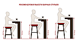 Полубарный стілець KEEN ШЕДОУ ГРЕЙ світло сірий (безкоштовна доставка), фото 4