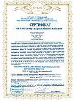 Сертифікація системи управління якістю ISO 9001:2015 на виробництво паперових виробів