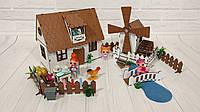 Домик для кукол LOL  Сельский Домик с мебелью, текстилем, лестницей, светом и Мельницей 2 этажа 2 комнаты 26см