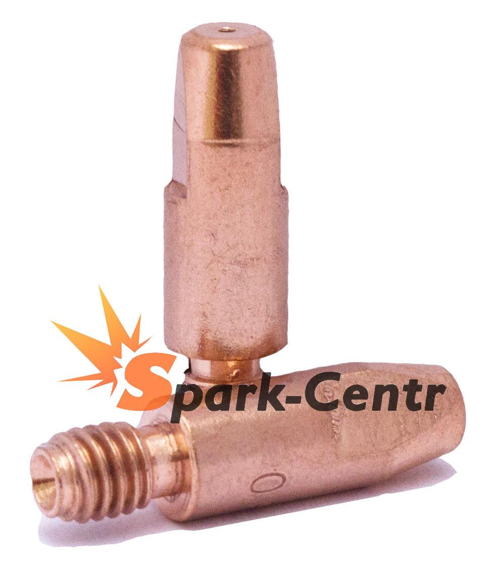 Наконечник токосъемный медный Ø0,8 мм М6х28 для сварочных горелок МВ-26 (MIG/MAG)