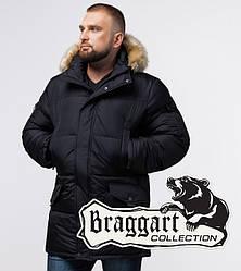 Braggart Titans 2084   Мужская куртка большого размера черная