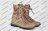 Ботинки средние, нубук (рептилия)