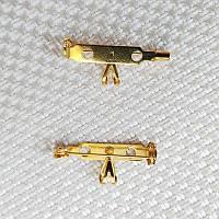 Основа для броши с бейлом 27х12 мм, позолота