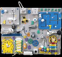 СУПЕР ЕКСКЛЮЗИВНЫЙ ПОДАРОК РЕБЕНКУ !!! Бизиборд ИМЕННОЙ- развивающая игрушка нового поколения, 65*50 см