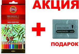 Карандаши цветные акварельные 12цв K-i-N Mondeluz 3716012001