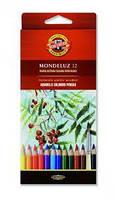 Карандаши акварельные 12 цветов K-i-N Mondeluz 3716012001