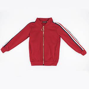 Лонгслив для девочек Kidsmod 128  красный 980363