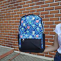 """Большой рюкзак для ноутбука, спорта, городской """"Birds 2 Blue"""", фото 1"""
