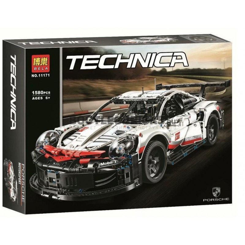 Конструктор Bela 11171 Техник Порш Porsche 911 RSR  (Аналог Lego Technic 42096)