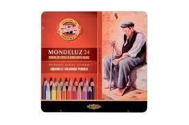 Карандаши акварельные 24 цвета K-i-N Mondeluz 3724 металлическая коробка