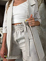 Женский костюм лён белый