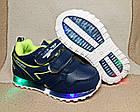 Кроссовки с разноцветными огоньками,24р. стелька 14,8 см, фото 4