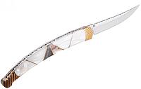 Нож складной  рельефная мраморная рукоять отличный подарок охотнику, рыбаку или туризм, фото 1