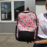 """Большой рюкзак для ноутбука, спорта, городской """"Birds 2 Pink"""", фото 1"""