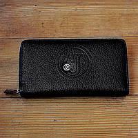 Брендовый кошелек Armani Jeans черный мужской Люкс Качество портмоне Модный бумажник Армани Джинс копия
