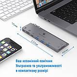 Type-C-хаб AIRON SmartDelux Thunderbolt Pro 8-IN-1 multiport для MacBook Pro, фото 3