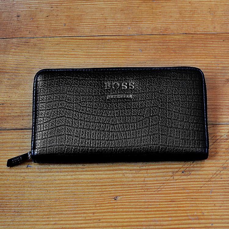 Брендовый кошелек Hugo boss черный мужской Люкс Качество бумажник Стильный барсетка Хуго Босс копия