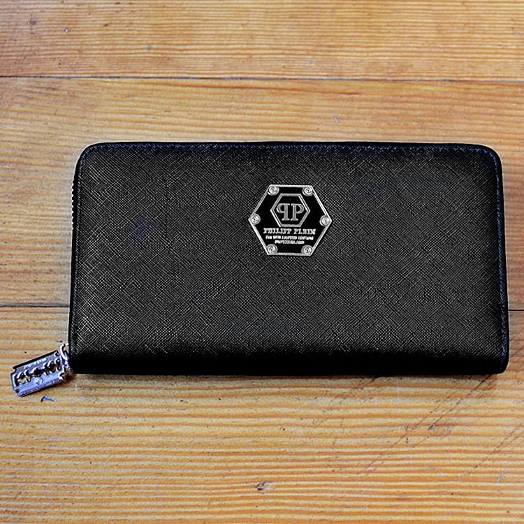 Модный кошелек Philipp Plein черный мужской Люкс Качество бумажник Брендовый барсетка Филипп Плейн копия