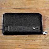 Модный кошелек Philipp Plein черный мужской Люкс Качество бумажник Брендовый барсетка Филипп Плейн копия, фото 7