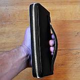 Модный кошелек Philipp Plein черный мужской Люкс Качество бумажник Брендовый барсетка Филипп Плейн копия, фото 6