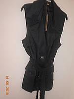 Костюм из глянцевого фиолетового  хлопка - юбка и  жилет  Giani Forte, фото 1