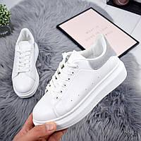 Кроссовки женские Queen белый + серый , женская обувь