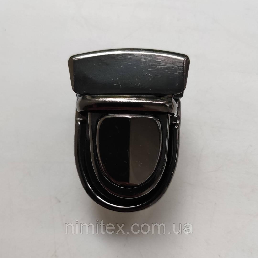 Замок сумковий чорний нікель