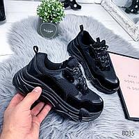 Кроссовки женские в стиле B черные , женская обувь