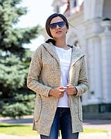Кардиган женский с боковыми карманами и капюшоном (К28439)