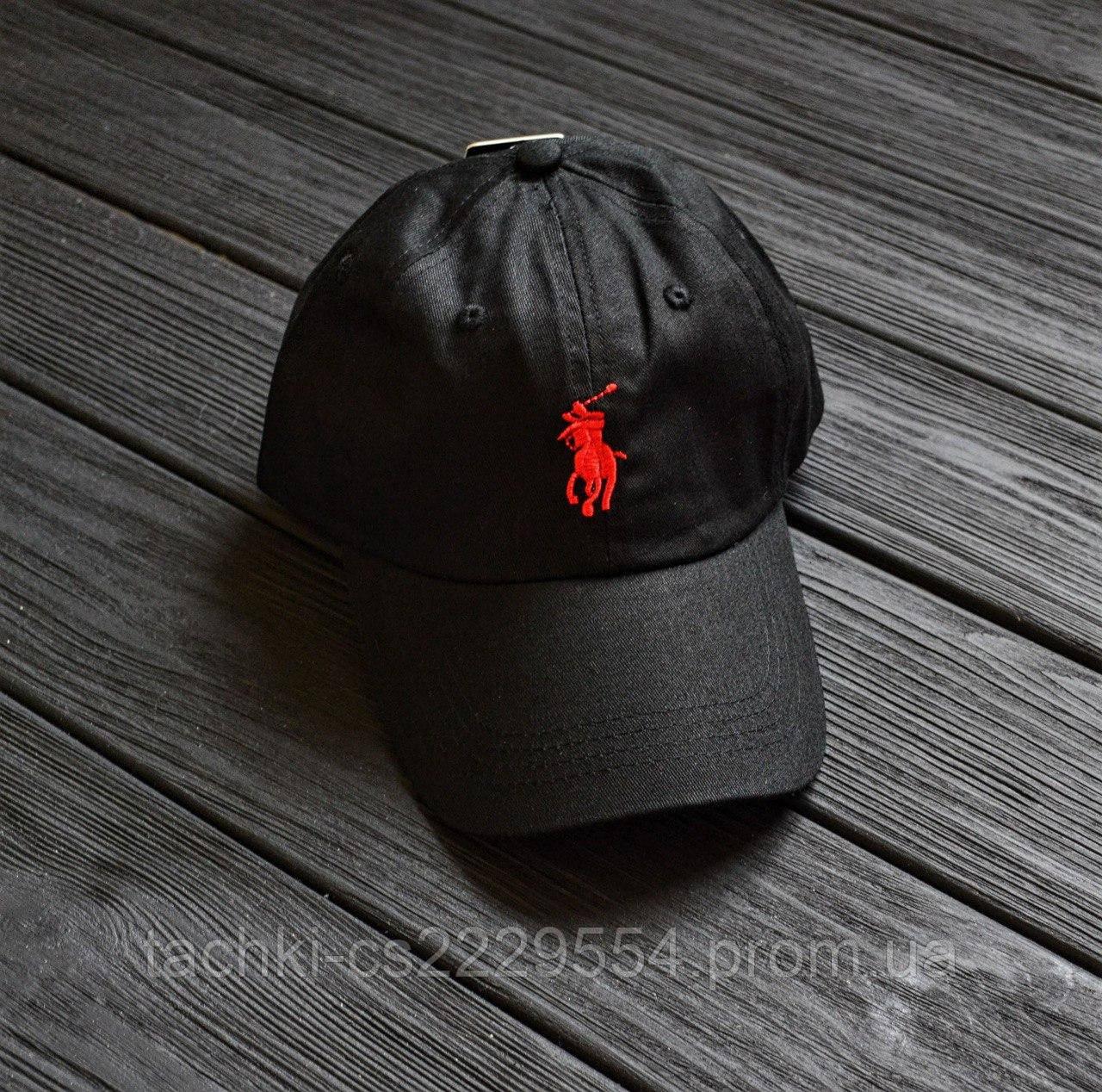 Кепка Polo Ralph Lauren black&red.