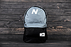 Рюкзак New Balance ( Серый с чёрным )