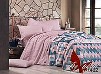 Комплект постельного белья  с компаньоном 7402, ранфорс, разные размеры