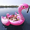 Огромный надувной Фламинго для отдыха на воде