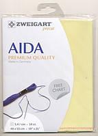 Тканина Zweigart (Aida) Аіда 14 ct - жовта
