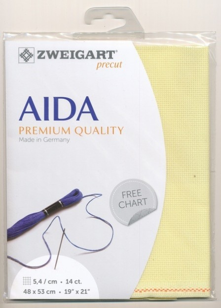 Zweigart (Aida) Аіда 14ct - жовта